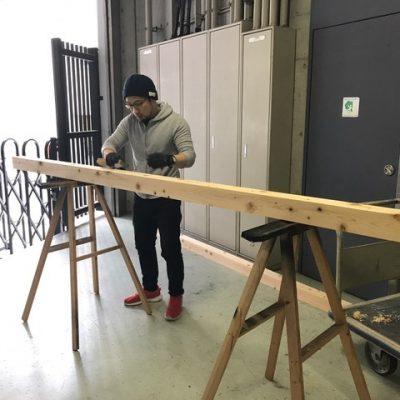 《ART LEAP 2018》仮仕込みを行いました!(1月20日〜1月24日)